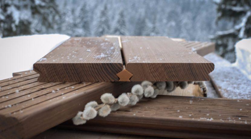 deck lemn termotratat. Decking pentru pergole bioclimatice