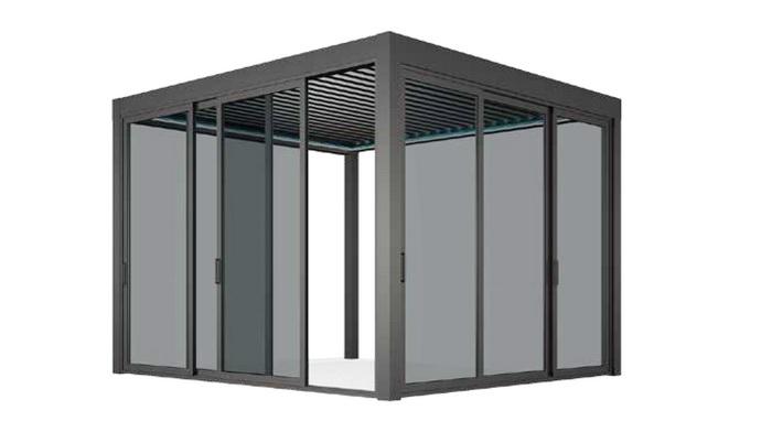 Bioclimatica Inchideri din sticla securizata.sistem manual Pergole de lux. Sisteme de acoperire a teraselor