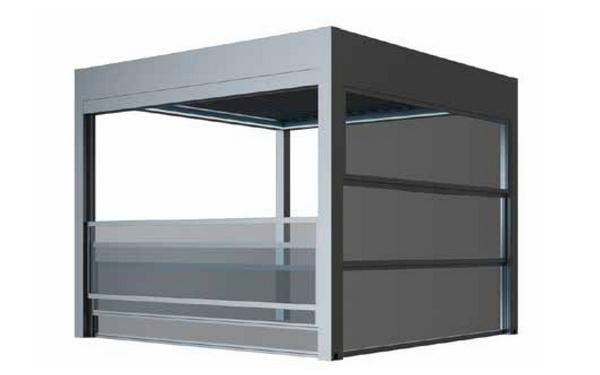 Sisteme de sticlă pentru terase. sticlă securizată electrică
