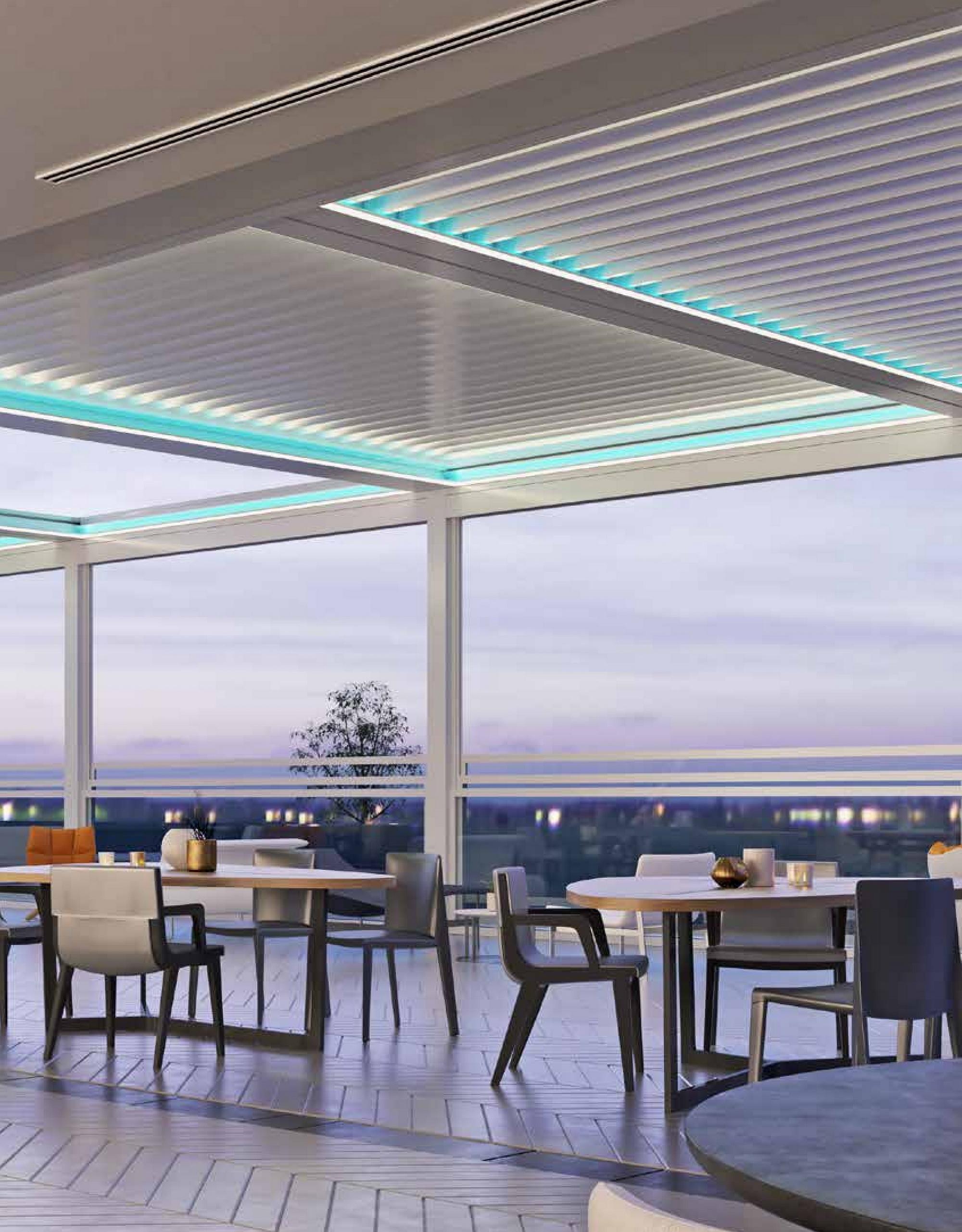 Pergola bioclimatica pentru restaurant, cafenea. pergole de lux. Cum poți folosi o pergolă bioclimatică