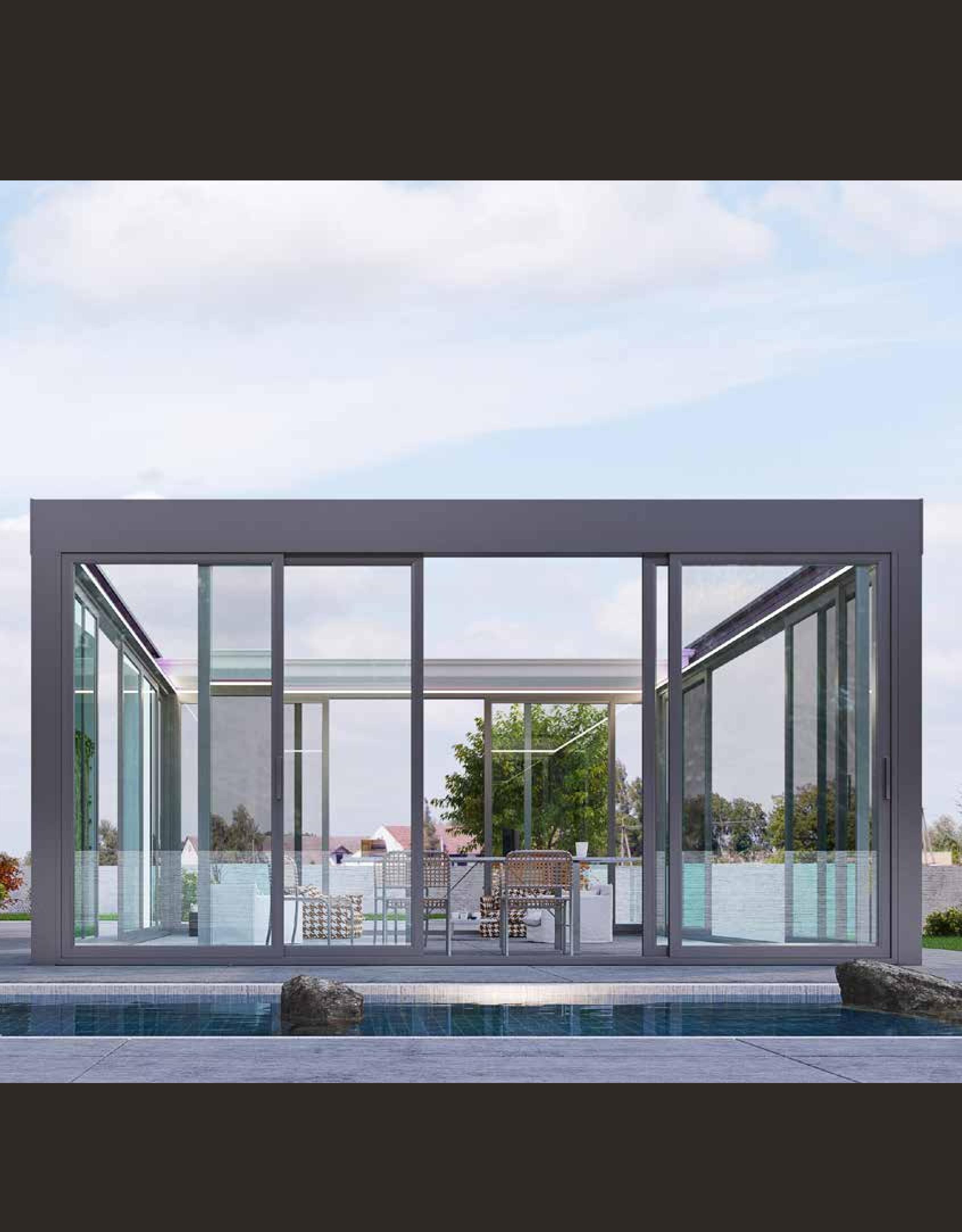 Sisteme de sticlă pentru terase. sticlă securizată manuală
